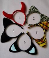 leopard headband - 5 Styles Children mickey Minnie leopard tiger mouse ears headband girl boy headband kids birthday party supplies decorations B001