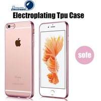 apple iphone technology - iPhone S Case Ultra Thin Shock Resistant Metal Electroplating Technology Soft Gel TPU Silicone Case Cover for S7 S6 Note Transparen