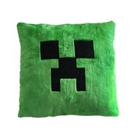 Wholesale New arrival Green Minecraft creeper pillows Superior plush PP cotton soft stuffed toy Game Monster Cushion Pillow cmx40cm christmas gift