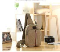 Wholesale New designed Handbags High quality Handbag Fashion Men Messenger Bag Canvas Men s Travel Bags Male Waist Outdoor shoulderbags C008