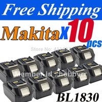 Wholesale pack New Makita V Lithium Ion Battery BL1830 for Cordless drill Makita V Battery order lt no track