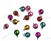 christmas crafts - 100Pcs mm Mixed color Metal Jingle Bells Christmas Ornaments Decoration Doll accessories Craft AE00579 order lt no track