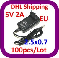 Wholesale car DHL EU V A DC x0 mm Power Charger AC Adapter for Tablet PC like Flytouch Flytouch etc