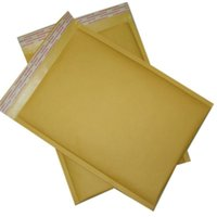 Wholesale 240MM MM inch inch Yellow kraft mailers bag bubble mailer envelopes mailing bag