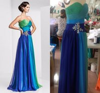 crystal crosses - Real Image Colorful Chiffon Prom Dress Crystal Beaded Cross Ruffles Sweetheart A Line Floor Length Long Prom Dresses Under Lace Up Back
