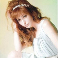 Wholesale Fashion Women s Hot New Silver Crystal Rhinestone Flower Elastic Hair Band Headband Hair Accessories