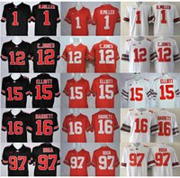 barrett black - Ohio State Buckeyes Youth College Football Jersey Kids Women Braxton Miller Jones Ezekiel Elliott JT Barrett Bosa Red Blackout