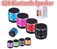 Wholesale Ubit Portable Mini Bluetooth Speakers Metal Steel Wireless Smart Hands Free Speaker With FM Radio Support SD Card S28 speaker