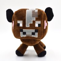 Unisex baby creepers - 2015 High Quality CM Mine Craft PlushToys Animals Stuffed Brown Cow Dolls Mine Craft Creeper Baby Toys Kids Birthday Gifts
