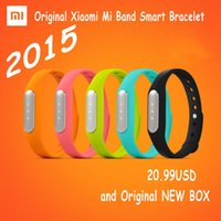 Wholesale 2015 NEW Simple style xiaomi MI band Bluetooth Smart Wristband Bracelet Sport fitness tracker Sleep Tracker better