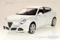 Wholesale Alfa Romeo Giulietta fine alloy acousto optic alloy model cars