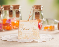 Wholesale Sweet Love Champagne Gold Wedding Candy Gifts Favors Boxes With Ribbon for Wedding Party