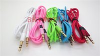 Wholesale Colorful mm AUX Audio Cables Male To Male Stereo Car Extension Audio Cable For MP3 mp4 For iphone Galaxy Cellphone ipad tablet