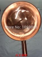 Wholesale Pure Copper Pot Purple Copper Pan Thick Wok Pot Cooker Diameter cm