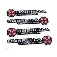 benz umbrella - 4pcs set Umbrella corporation Resident Evil Car Stickers Door Handle Decal for BMW Mercedes Benz Volkswagen Honda Hyundai Kia Lada