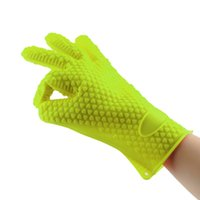 silicone cooking - Heat Resistant Silicone Glove Cooking Baking BBQ Oven Pot Holder Mitt Kitchen Green