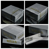Wholesale RIZLA Silver Rolling Papers King Size Slim Tobacco Rolling Papers Super Thin Cigarette Rolling Paper Unbleached Smoking Paper ORIGINAL