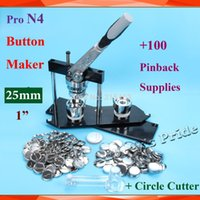 Wholesale Pro N4 quot mm Badge Button Maker Machine Plastic Adjustable Circle Cutter Sets Metal Pinback Button Supply