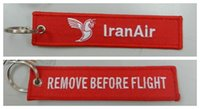 air republic - Remove Before Flight Iran Air The Airlines Of The Islamic Republic of Iran Embroidery Keychain x cm