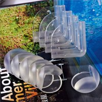 Wholesale Via Fedex Round Corner Protectors Corner Cushions For Glass Tables Or Shelves With M Sticker Baby Safe