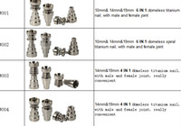 Wholesale Titanium Nail in and in Domeless Titanium Nails Titan Nail honey buckets with Male and Female Joint