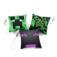 200pcs Pendentif Tendance Minecraft Mini oreiller suspendus Minecraft Porte-clés Jouets mine Craft Creeper Steve Figures 6.5 * 6.5 * 6.5cm 3pcs / set