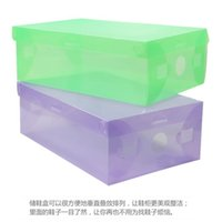 Wholesale 1pcs Transparent Shoe Boxes Clear Plastic PP Storage Box Packaging Boxes For Shoes Sizes For Women color send at random