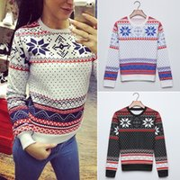 Wholesale Wholesales Women Christmas Xmas Snowflake Jumper Top Pullover Sweater