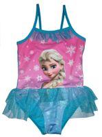 baby bathers - Children swimwear Kids one piece swimsuit Baby Girls swimming costume bather wear Elsa blue swimming dress