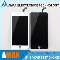 cell phone display - Grade A LCD Display Touch cell phone Digitizer Complete cell Screen replacements with Frame Full Assembly Replacement for iPhone plus