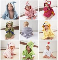 amazing baby bath - Amazing Cute Designs Hooded styles Animals modeling Baby Bathrobe Cartoon Towel Character kids bath robe infant owl shark