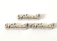 Wholesale New Bridesmaid Alloy Letter Floating Charms Fit For Magnetic Glass Living Locket Pendant