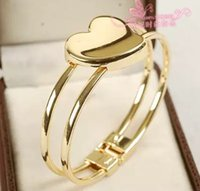 Wholesale noble gold with heart lady s bracelet nnsssp