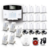 Wholesale New Smart Home Wireless Security Burglar Voice GSM Alarm System with Auto dialer Voice LCD Screen Protect Home Store Good Gift By DHL