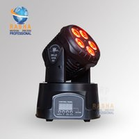Wholesale NEW ARRIVAL in1 W RGBAW Mini LED Moving Head Wash Light Stage Moving Head for Disco Party
