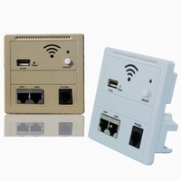 Wholesale KY Panel Type POE or AC Mbs wireless wall WiFi AP panel router with V A USB Double LAN RJ11