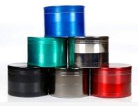 molinillos de hierba mezcla amoladora amoladora de fumar tamaño de los dientes del metal del CNC de tabaco amoladora 55mm 4 partes diseña ENVÍO de DHL