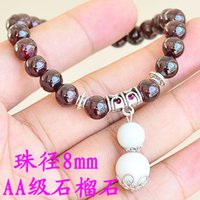 aa levels - Factory Toys pomegranate jewelry MM AA level natural jade gourd hanging garnet garnet bracelet Valentine s Day Gift
