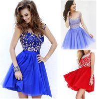 Wholesale Elegant design Women Chiffon Prom Dresses Short Evening Gown Formal Party Dress