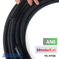 Wholesale Tansky very high quality AN8 Cotton Over Braided Fuel Oil Hose Pipe Tubing Light Weight Meters Roll TK HYG8