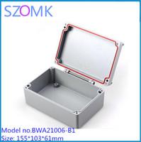 aluminium extruded enclosure - 3 electronics project aluminum box metal enclosure box mm extruded aluminium instrument box BWA21006 B1