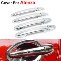 Wholesale 4pcs Fashion Stickers Cover ABS Door Handle For Mazda Atenza Accessories Newest Decoration Car Styling