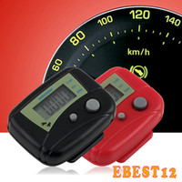 Wholesale Promotions LCD Pedometer Mini Single Function Pedometer Step Counter LCD Run Step Pedometer Digital Walking Counter with Package