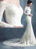 Cheap 2016 Spring Amazing Detail Mermaid Wedding Dresses Dubai Arabic Off-shoulder Long Sleeves Full length Backless Wedding Gown Plus Size