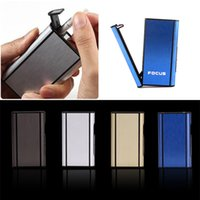 Wholesale 2015 Popular Aluminum Pocket Cigarette Case Automatic Ejection Box Holder