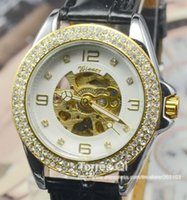 best retailer - arrivals Mechanical Women Skeleton watch Auto watches Crystal Diamond wrist watch Best Gift for Retailer and Wholesaler