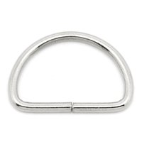 Wholesale 300PCs D Shaped Clip Silver Tone
