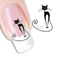 best cat art - Decal carving white snow flower nail tools piece Sheet D Design Cat Art Nail Sticker Nail Best Selling