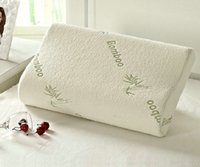 Wholesale Bamboo Pillow Slow Rebound Memory Foam Health Care Bamboo Fiber Pillow