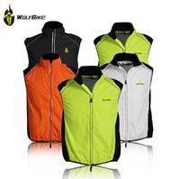 Wholesale WOLFBIKE Tour de France Cycling Sportswear Men Jerseys Cycle Clothing Windcoat Breathable Bike Jacket Sleeveless Vest Gilet hight quality